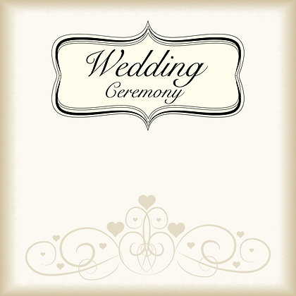 WEDDING CEREMONY PACK OF 10 CARDS