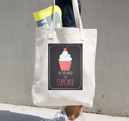 Tote Bag with Cupcake Design