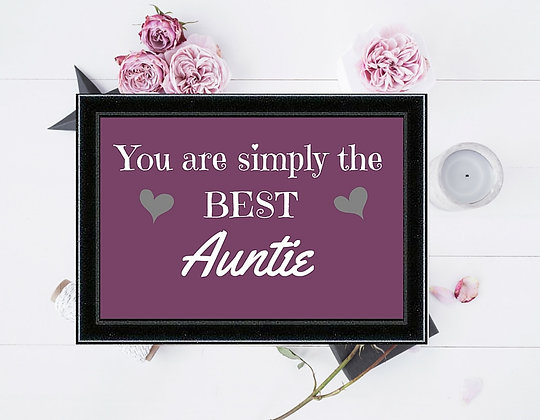SIMPLY THE BEST AUNTIE