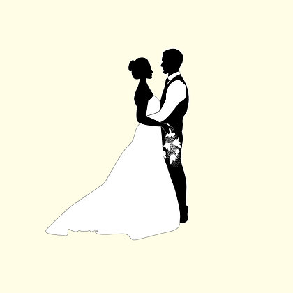 WEDDING COUPLE FIRST DANCE PACK OF 10 CARDS