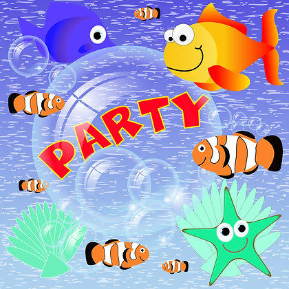 PARTY INVITATION PACK OF 10 CARDS