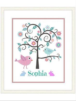 FLORAL TREE SOPHIA FRAMED PRINT