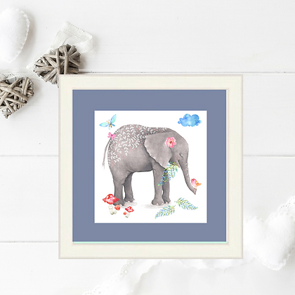 Framed Print Ellie Elephant