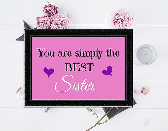 SIMPLY THE BEST SISTER PINK