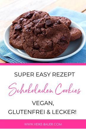 Schokoladen Cookies Rezept / vegan, glutenfrei, easy-peasy