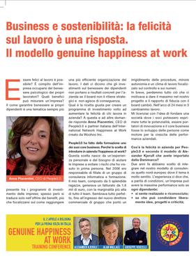Business e sostenibilità: la felicità sul lavoro è una risposta. Il modello Genuine Happiness at Work
