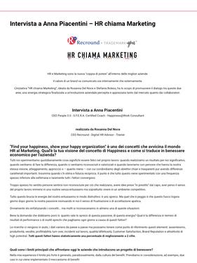 HR chiama Marketing - Anna Piacentini
