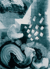 Monoprint from 'Leaking Landscapes of the Soul'_Volume 1