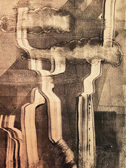 Monoprint from 'Leaking Landscapes of the Soul'_Volume1