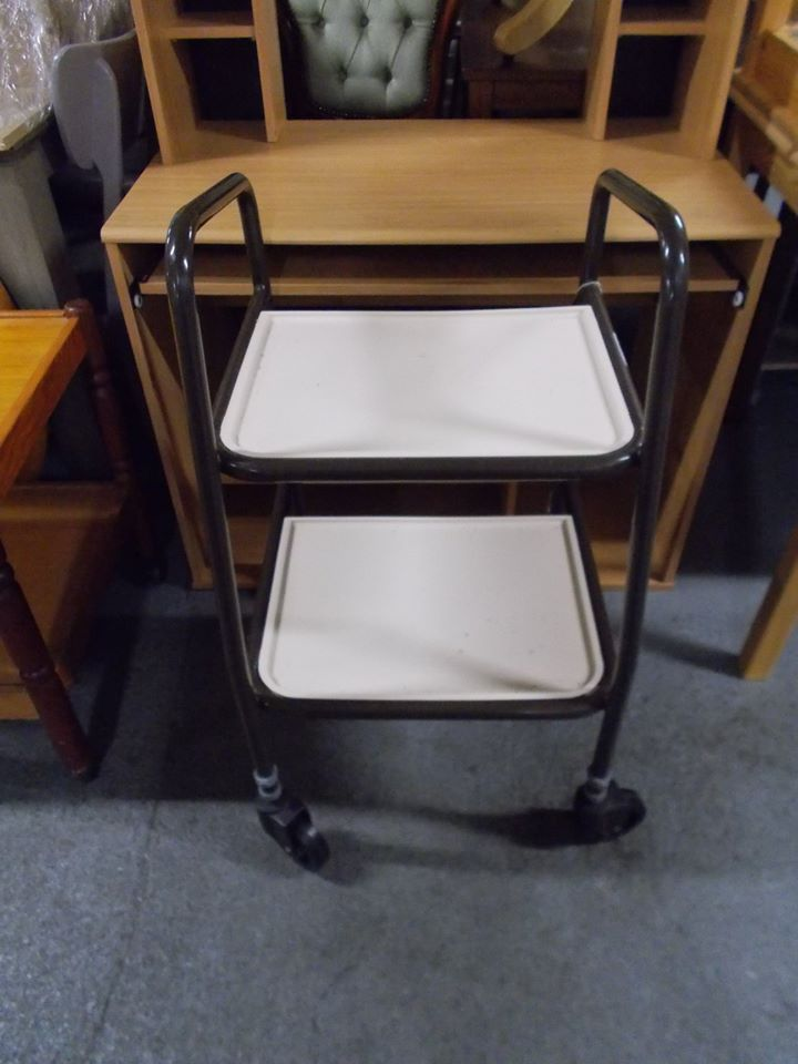 PUSH ALONG TRAY TROLLEY £10