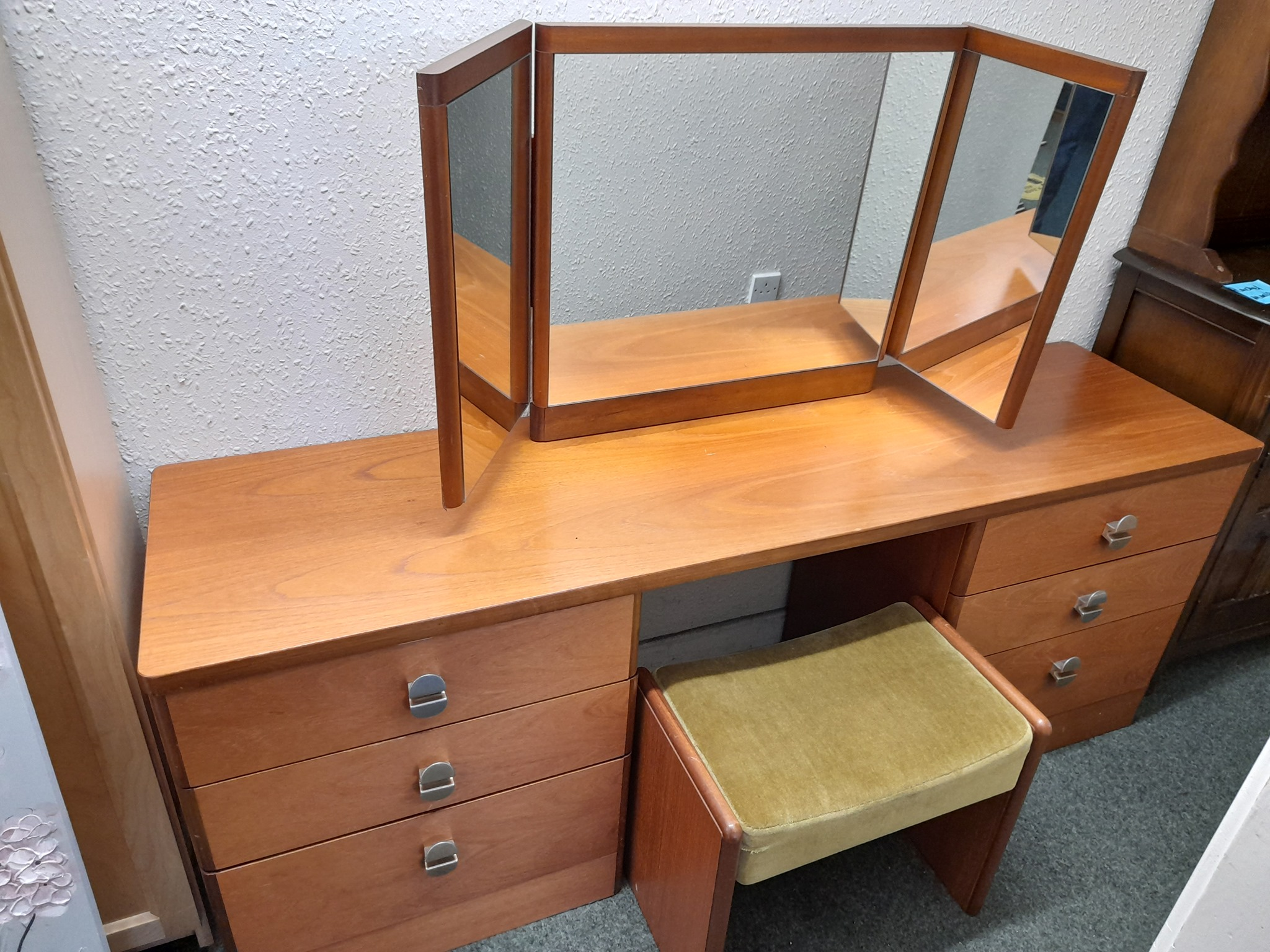 DRESSING TABLE AND STOOL £75