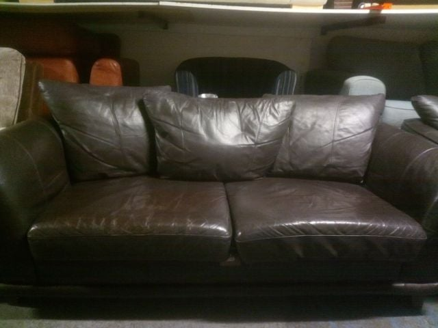 BROWN 3 AND 2 SEATERS £160