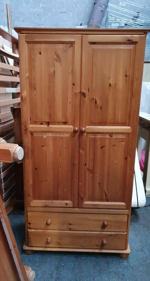 PINE WARDROBE WITH DRAWERS £85