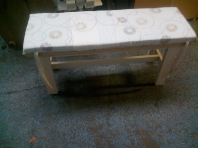 SMALL BENCH WITH CUSHION TOP £20