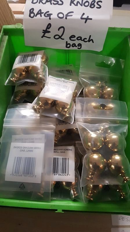 BRASS DRAWER KNOBS, PACKS OF 4 £2
