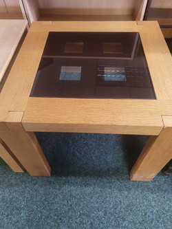OAK AND GLASS COFFEE TABLE £25