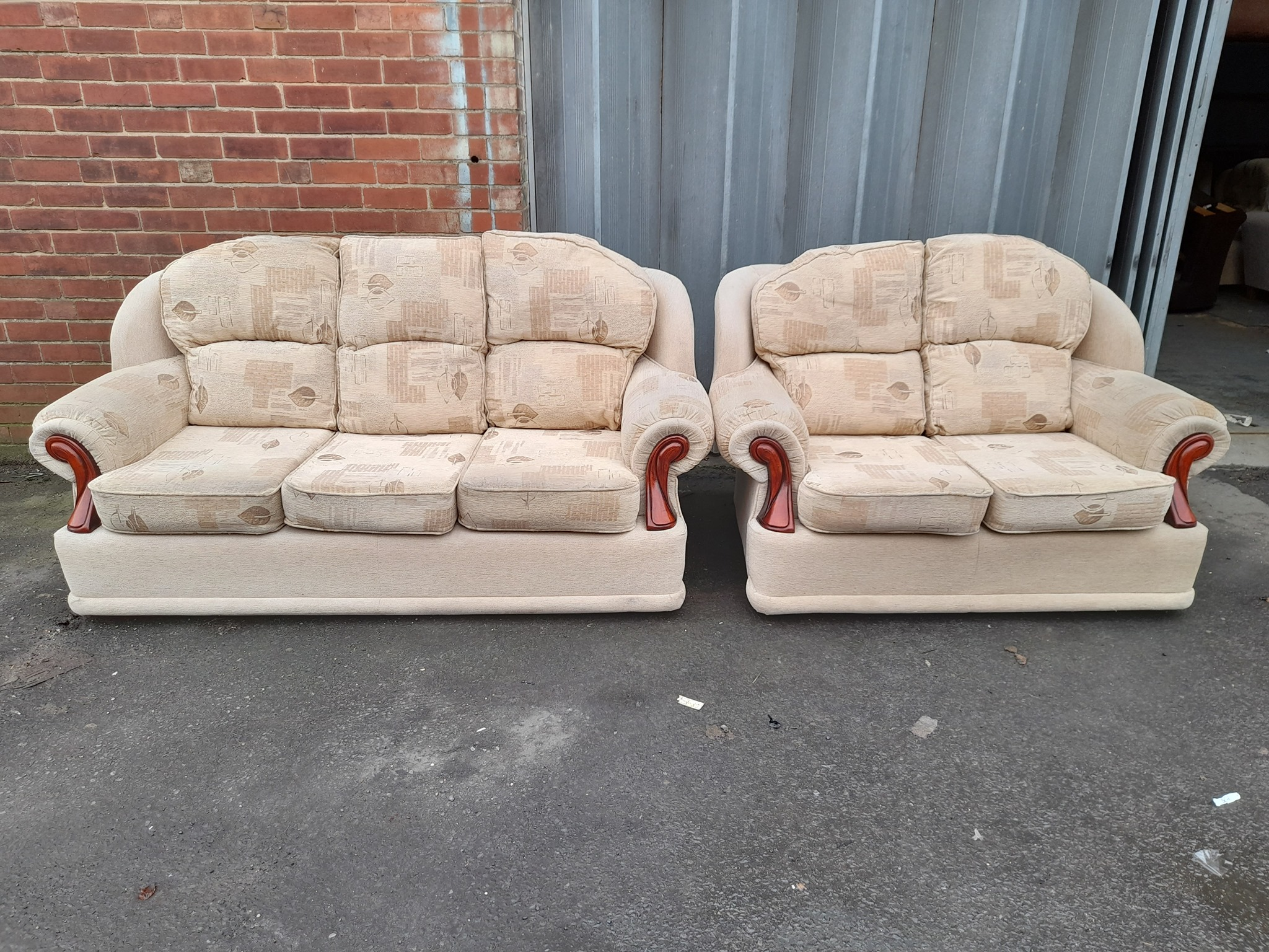 THREE AND TWO SEATER SOFAS £120