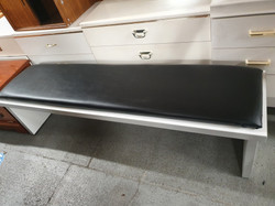 """WHITE BENCH WITH BLACK COLOURED 63"""" LONG"""