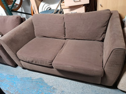 BROWN FABRIC SOFABED £95