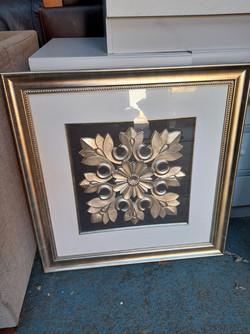"""GOLD FRAMED WALL ART 27"""" X 27"""" £20"""