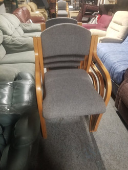 GREY STACKER OFFICE CHAIRS £10 EACH