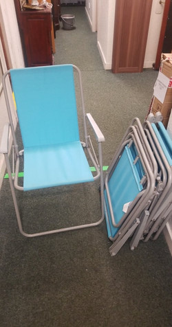 SET OF 6 FOLDING GARDEN CHAIRS TURQUOISE £30