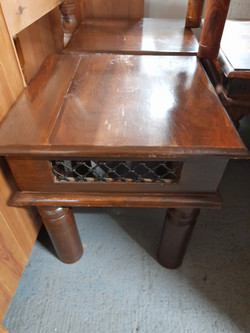 """SHEESHAM SIDE TABLE 18"""" X 18"""" 18"""" HIGH £25 EACH 2 AVAILABLE"""