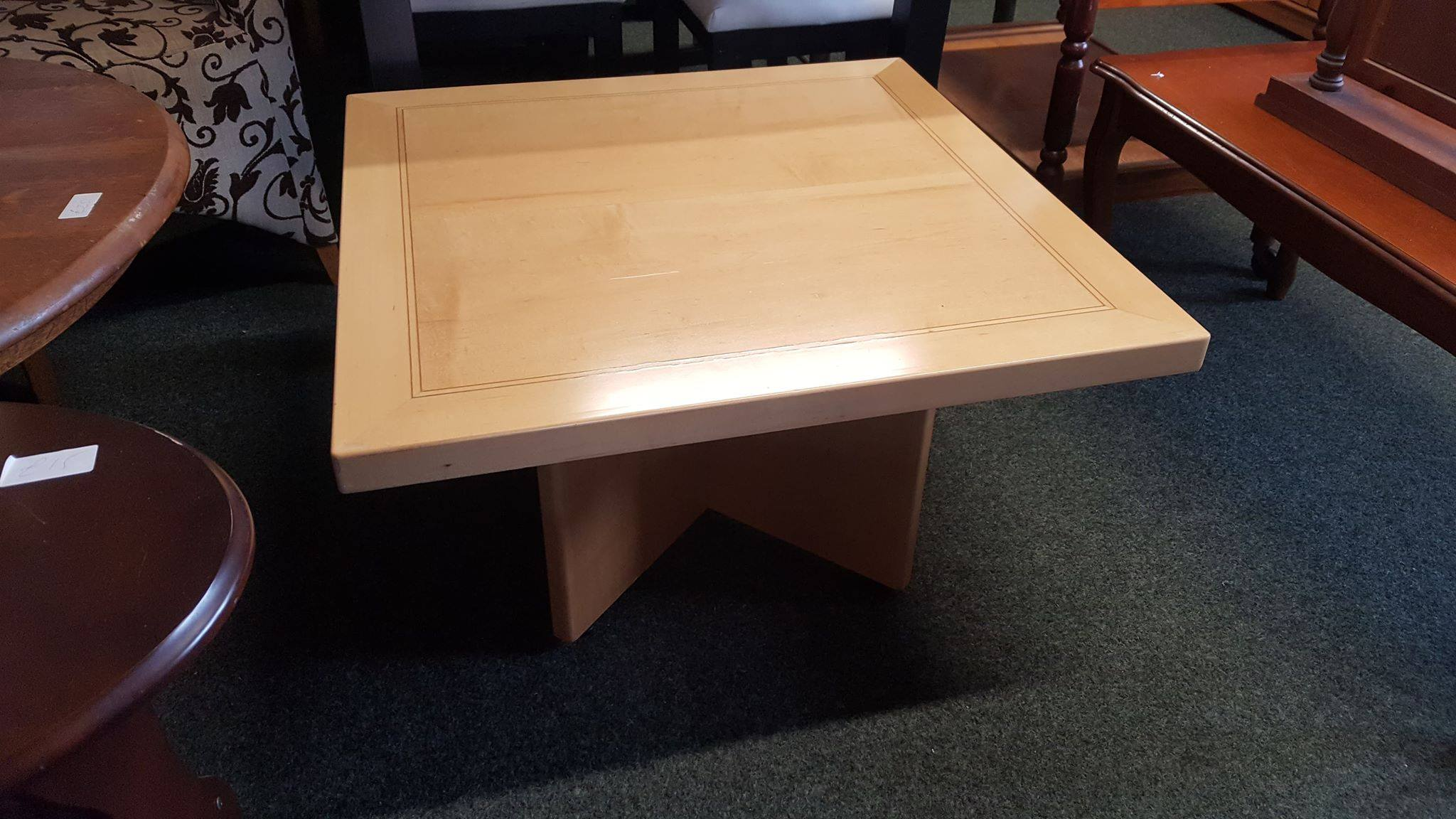 LIGHT WOOD COFFEE TABLE £30