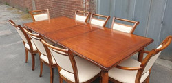 DOUBLE EXTENDING TABLE WITH 8 CHAIRS £200