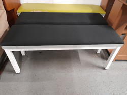 """BLACK FABRIC TOPPED BENCHES 47"""" LONG £25 EACH"""