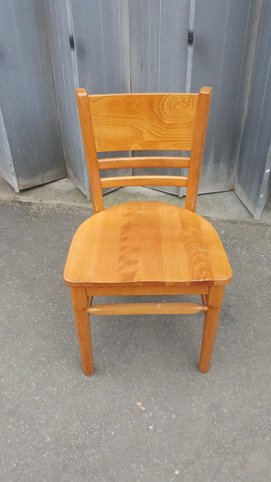 SOLID WOOD CAFE CHAIRS £15 EACH