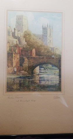 WATERCOLOUR OF DURHAM CATHEDRAL £20