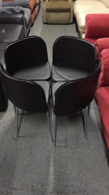 SET OF 4 SPACESAVER CHAIRS BLACK £30