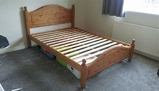 DOUBLE PINE BED FRAME £65
