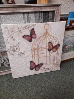 """BUTTERFLY CANVAS 19"""" X 19"""" £5"""