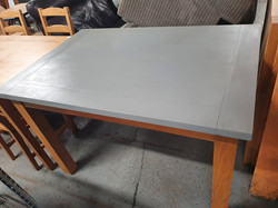 GREY PAINTED DINING TABLE £45