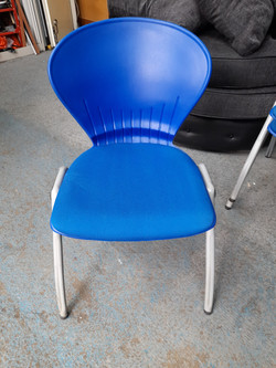 BLUE STACKABLE CHAIRS £15 EACH