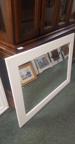 """LARGE CHUNKY WOODEN MIRROR 36"""" WIDE X 48"""" HIGH 3"""" DEEP £35"""