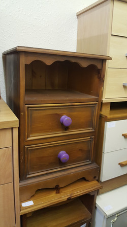 PINE BEDSIDE 2 AVAILABLE £25