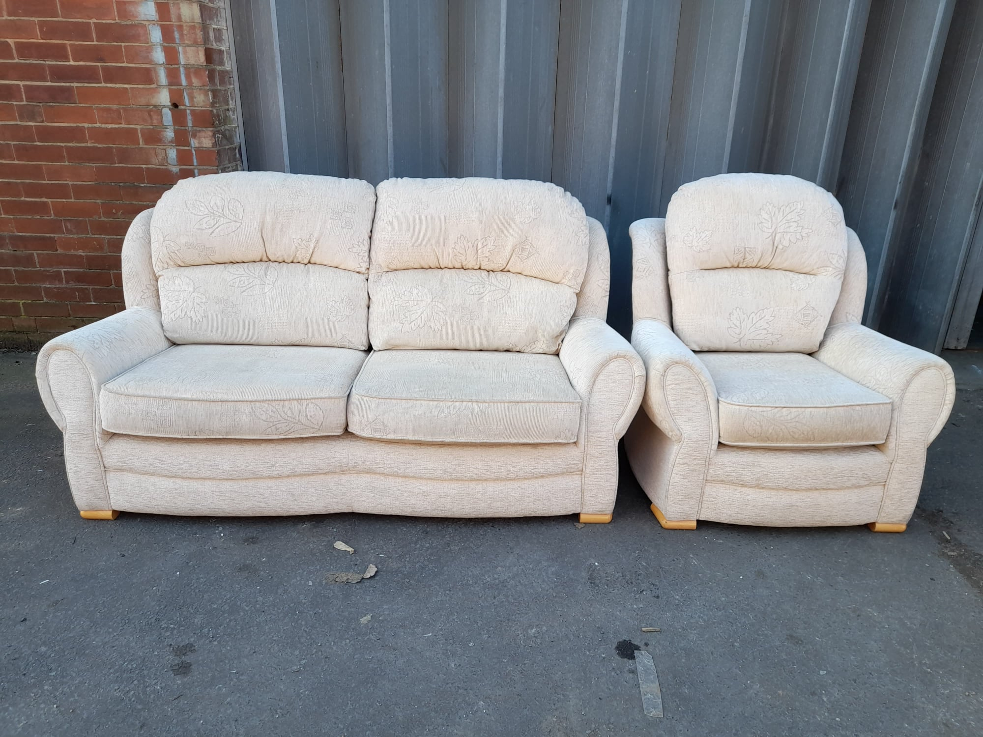 SOFA AND CHAIR £140
