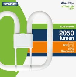 Status Low Energy 2 Pin 2D Tube Light Bulb £3 EACH