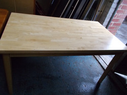 """BEECH LARGE TABLE 55"""" LONG X 32.5"""" WIDE £65"""
