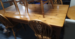 PINE TABLE 6 CHAIRS £180