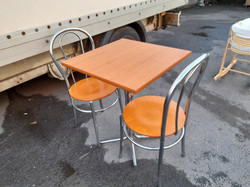 BISTRO STYLE TABLE AND 2 CHAIRS £55