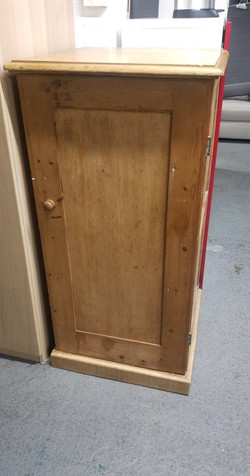"""SMALL PINE WARDROBE 23.5"""" WIDE X 47"""" HIGH 25"""" FRONT TO BACK £20"""