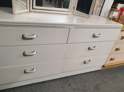DOUBLE WHITE DRAWERS £35