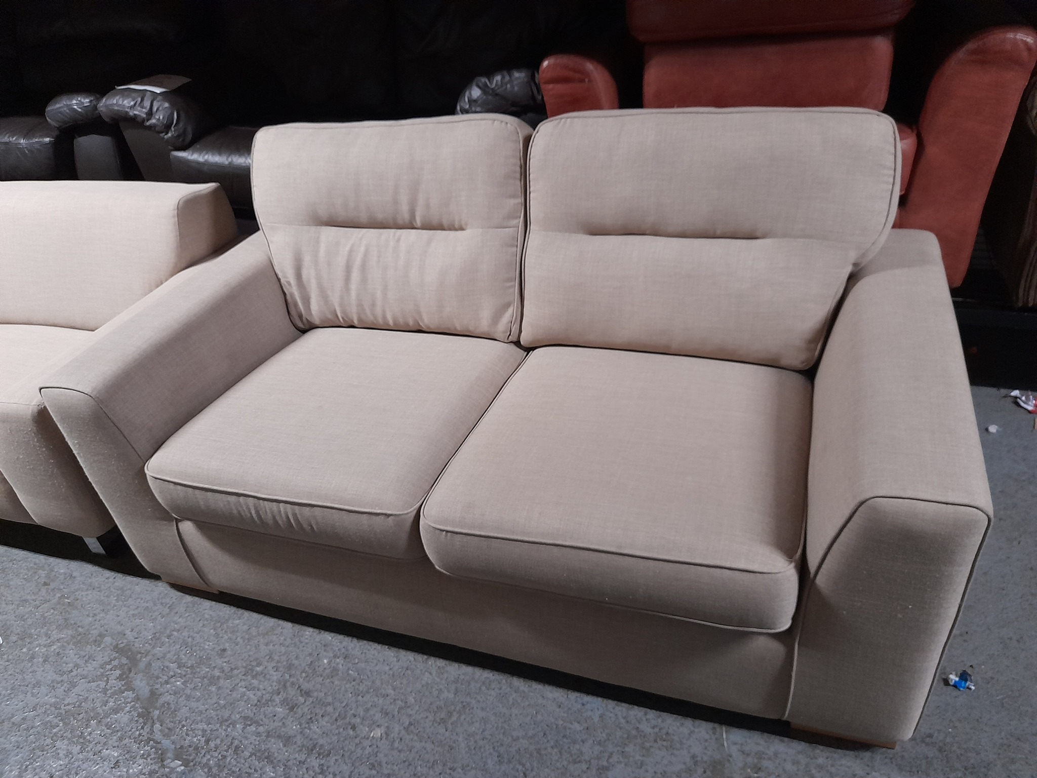 BEIGE FABRIC SOFA £95