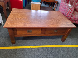 """LARGE COFFEE TABLE WITH DRAWERS 50.5"""" X 30"""" £65"""