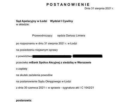 Sąd Apelacyjny w Łodzi przywraca zawieszone postępowanie!