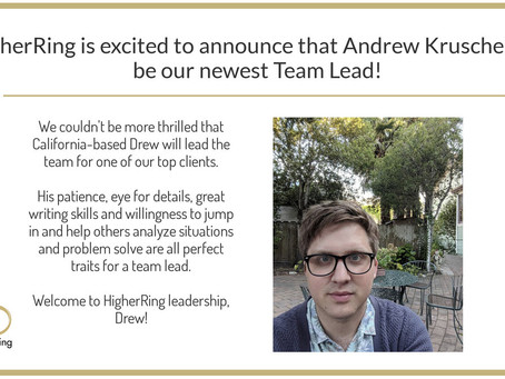 Andrew Kruschel Promoted to Team Lead
